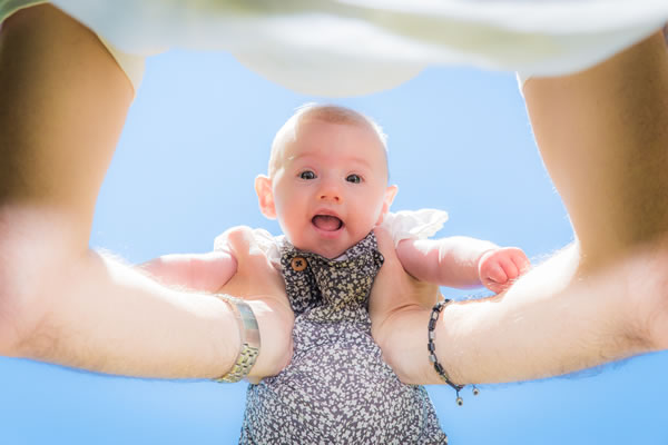 Outdoor baby photography in Bicester