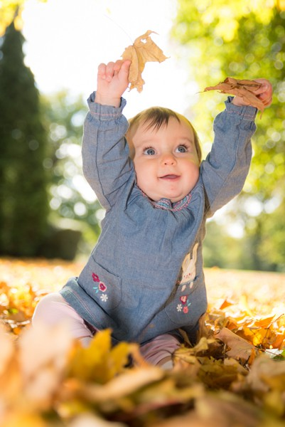 Autumn outdoor baby photography Blenheim