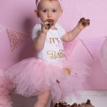 Girls cake smash portrait