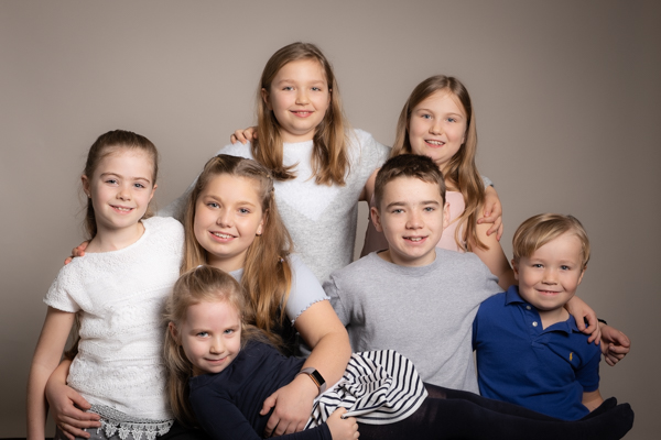 group childrens portraits